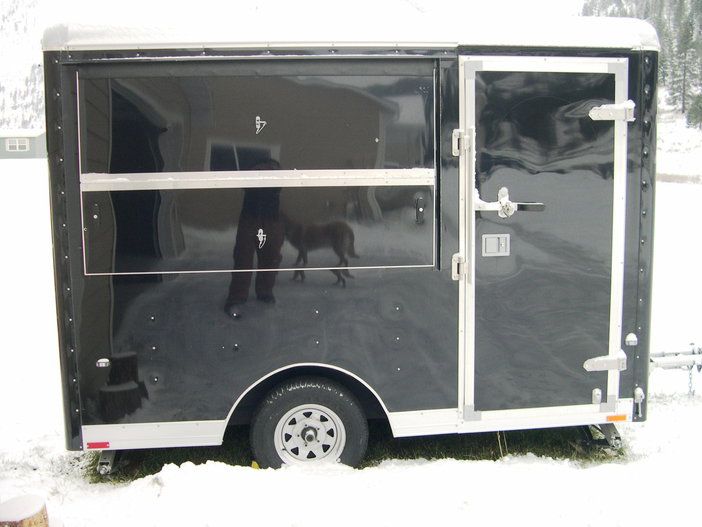 Inside our mobile sharpening shop - Dick Pierce Mobile Sharpening Trailer In Missoula Montana