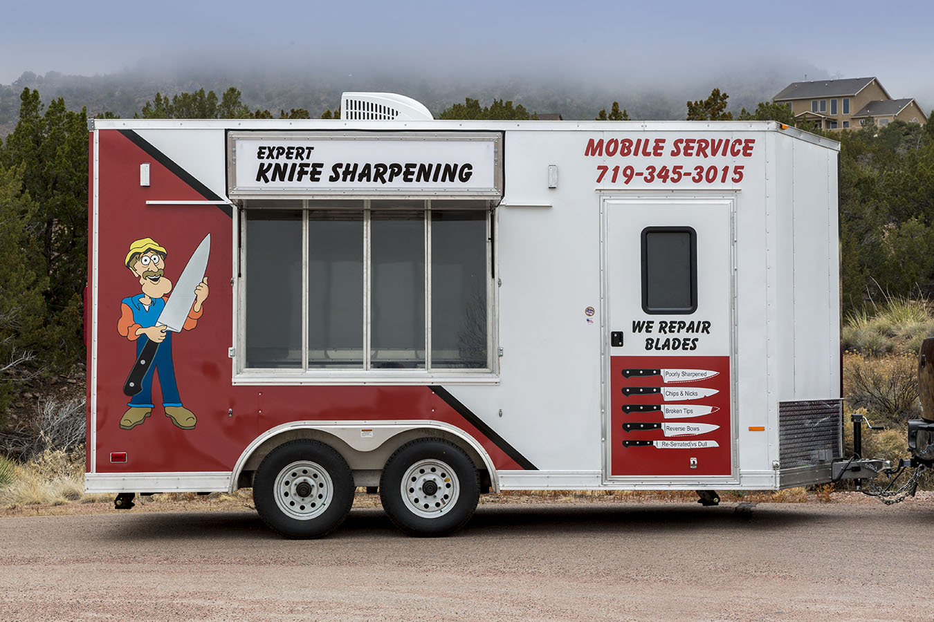 Inside our mobile sharpening shop - Photo 1