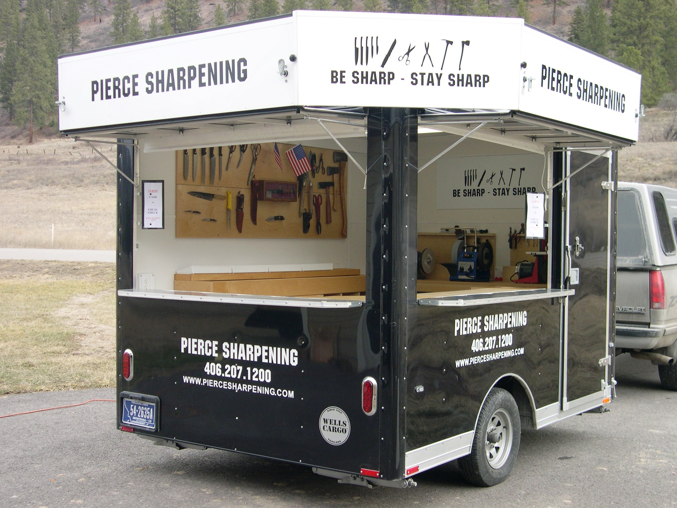 Inside our mobile sharpening shop - Photo B